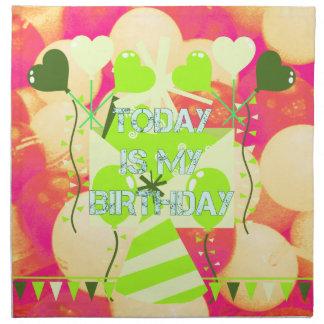 Today is My Birthday Cloth Napkin