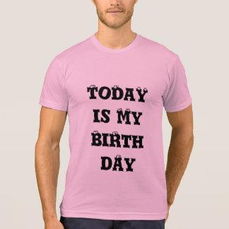 Today is my birthday Custom Men's tee shirt