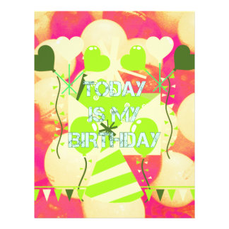 Today is My Birthday Letterhead