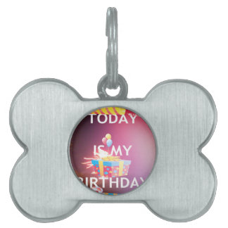 TODAY IS MY BIRTHDAY PET TAG