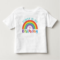 Today Is My Birthday Rainbow Add Your Age Girls Toddler T-shirt