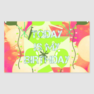 Today is My Birthday Rectangular Sticker