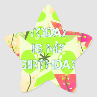Today is My Birthday Star Sticker