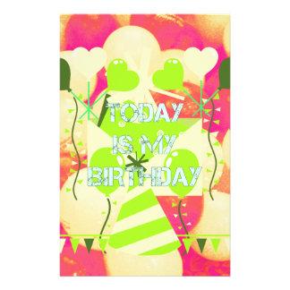 Today is My Birthday Stationery