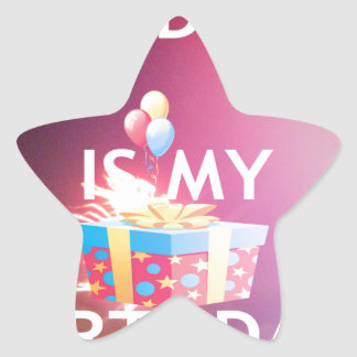 TODAY IS MY BIRTHDAY STAR STICKER