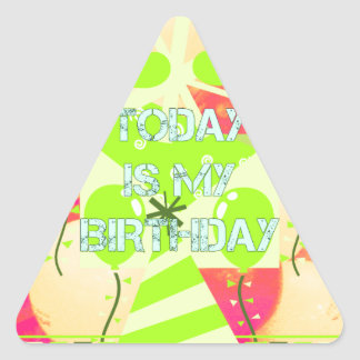 Today is My Birthday Triangle Sticker
