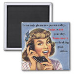 Today is not your day retro image mug refrigerator magnets