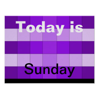 Today Is Sunday Poster