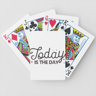 today is the day bicycle playing cards
