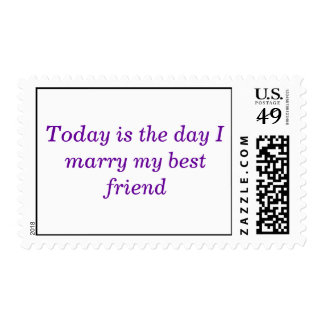 Today is the day I marry my best friend Postage
