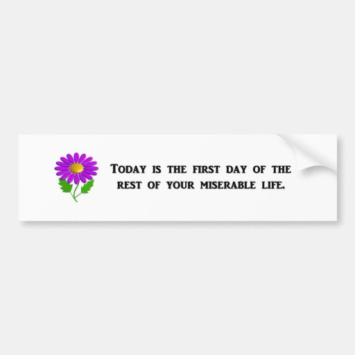 today-is-the-first-day-of-the-rest-of-your bumper sticker