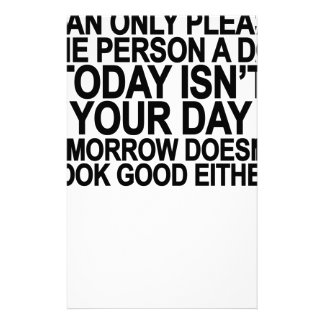 Today Isn't Your Day Ash Grey T-Shirt.png Personalized Stationery