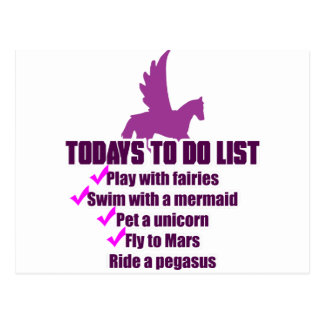 Today s To Do List Post Card