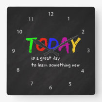 Today Square Wall Clock
