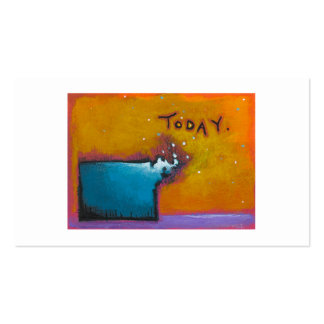 Today unique colorful expressive tiny art painting Double-Sided standard business cards (Pack of 100)