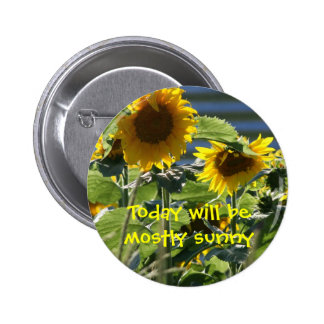 Today Will Be Mostly Sunny Button
