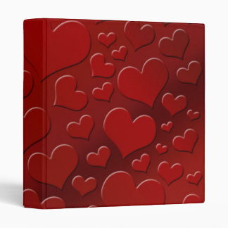 """Today's Best""  Abstract Hearts III 3 Ring Binder"