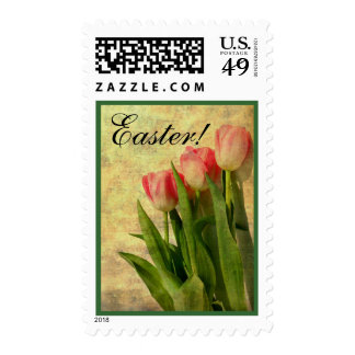Today's Best Award! Easter Tulips Postage Stamp