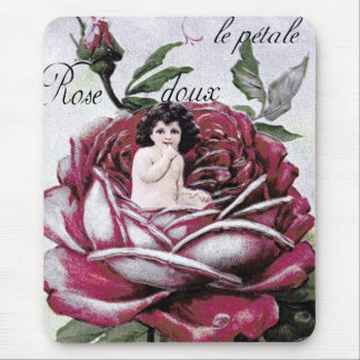 """""""TODAY'S BEST"""" DESIGN  AWARD!  FRENCH ROSE FAIRY MOUSE PAD"""