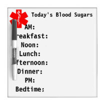 Today's Blood Sugars Whiteboard