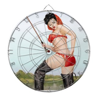 Today's Catch Pin Up Fishing Girl Dartboard