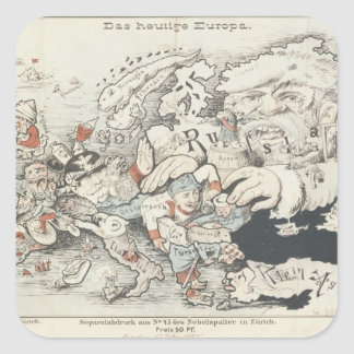 Today's Europe', 1887 Square Stickers