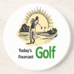 "Todays Fourcast ""Golf"" Beverage Coasters"