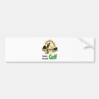 "Todays Fourcast ""Golf"" Bumper Sticker"
