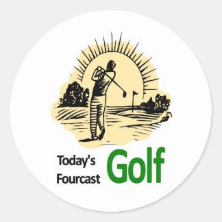 """Todays Fourcast """"Golf"""" Classic Round Sticker"""