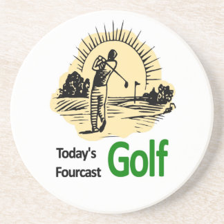 "Todays Fourcast ""Golf"" Drink Coaster"