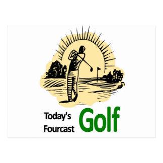 "Todays Fourcast ""Golf"" Postcard"