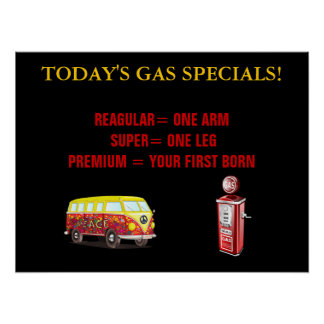 Today's Gas Prices Poster