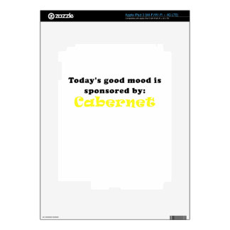Todays Good Mood is Sponsored by Cabernet iPad 3 Skin