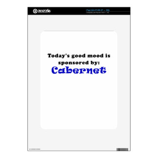 Todays Good Mood is Sponsored by Cabernet iPad Decal