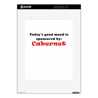 Todays Good Mood is Sponsored by Cabernet iPad Skins