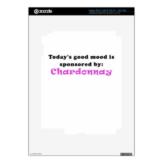 Todays Good Mood is Sponsored by Chardonnay Skin For iPad 3