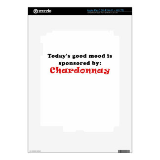 Todays Good Mood is Sponsored by Chardonnay Skins For iPad 3