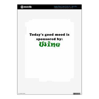 Todays Good Mood is Sponsored by Wine iPad 3 Skins