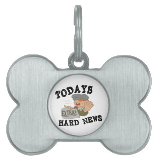 Todays Hard News Pet ID Tag