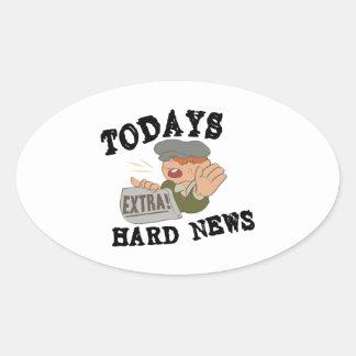 Todays Hard News Oval Sticker