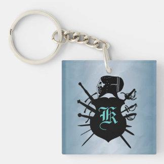 Today's Knight Sword Blue Keychain