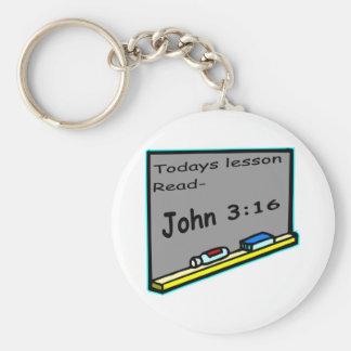 Todays lesson read John 3 16 Christian Keychain