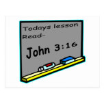 Todays lesson read John 3 16 Christian Post Card