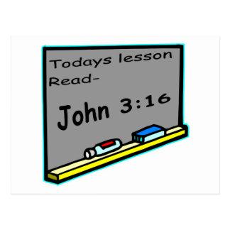 Todays lesson read John 3 16 Christian Postcard