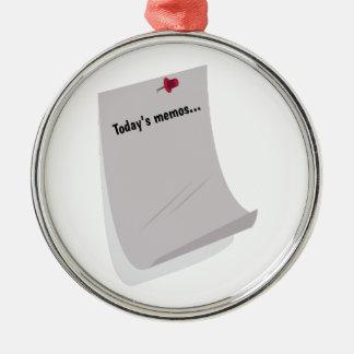 Today's Memos..... Ornaments