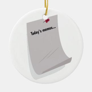 Today's Memos..... Christmas Ornament