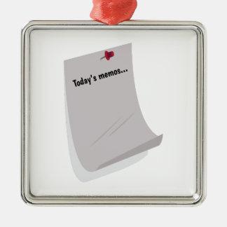 Today's Memos..... Christmas Ornaments