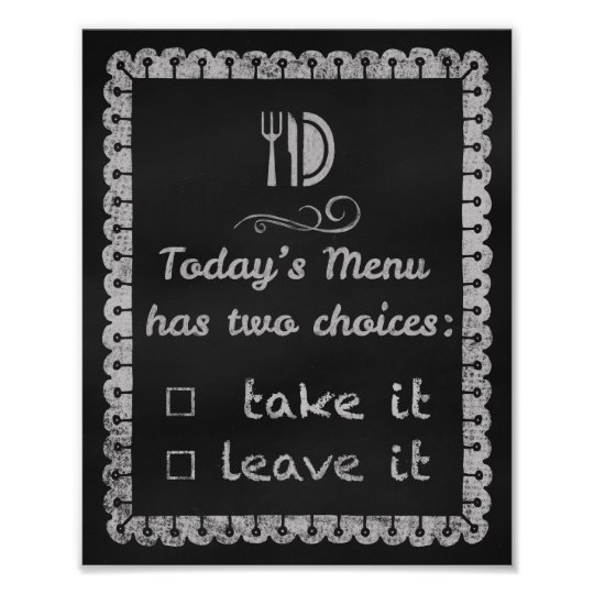 Today's Menu Kitchen Chalkboard Art Prints Chalk