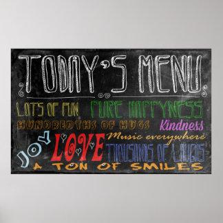 Today's Menu motivational poster