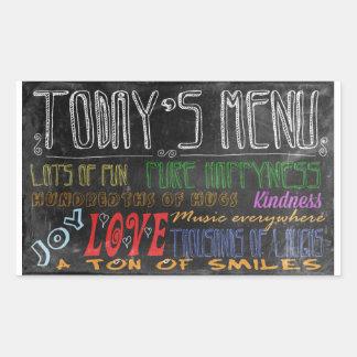 Today's Menu motivational poster Rectangular Sticker
